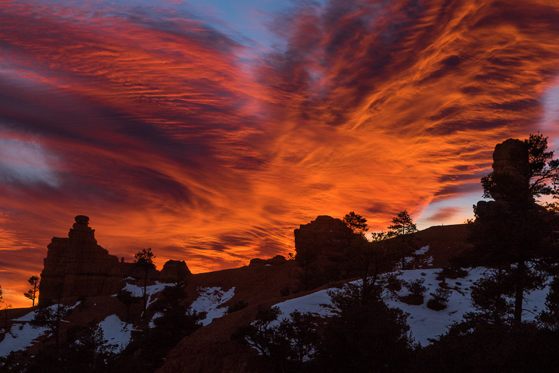 Flaming Sunset over Red Canyon SP, Utah #4