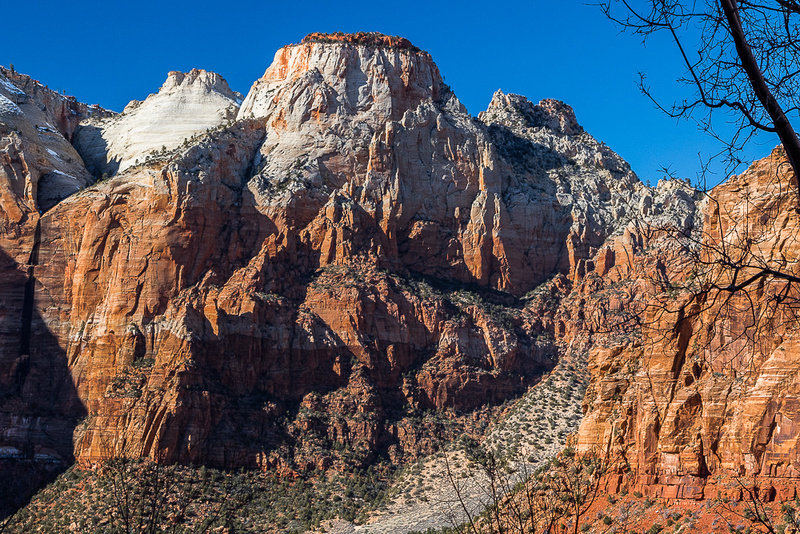 Zion NP from South end of Zion Mt. Carmel Highway tunnel #2