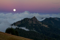 Moon from Hurricane Ridge
