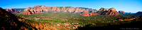 Panorama of Sedona from Airport Lookout